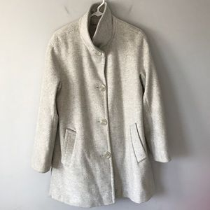 Calvin Klein button wool coat grey single breasted